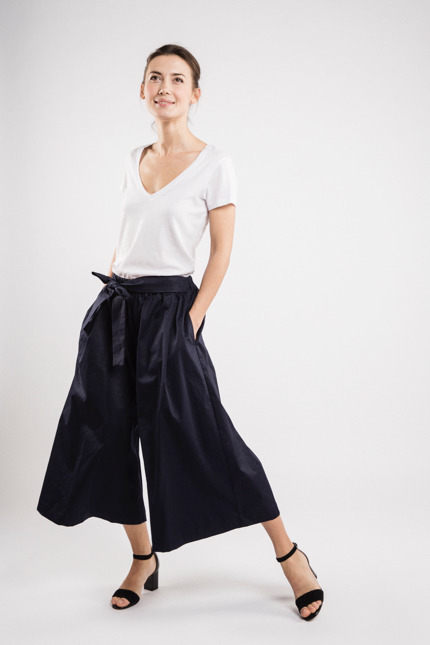 LeMuse deep blue TREND skirt trousers-1