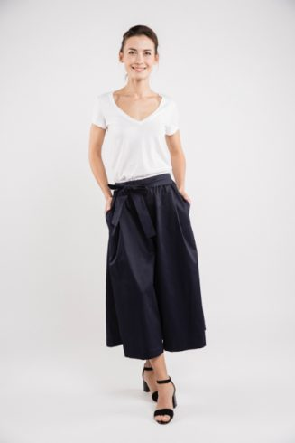 LeMuse deep blue TREND skirt trousers-2