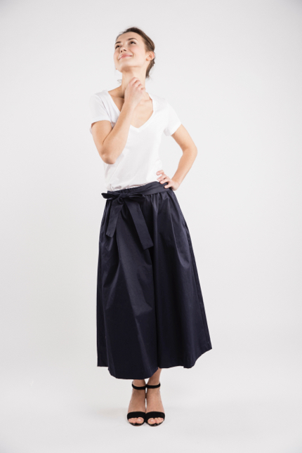 LeMuse deep blue TREND skirt trousers-3