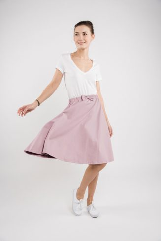 LeMuse dusty rose CINDY skirt-1