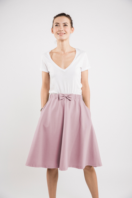 LeMuse dusty rose CINDY skirt
