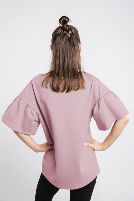 LeMuse dusty rose LOVESTORY blouse-1