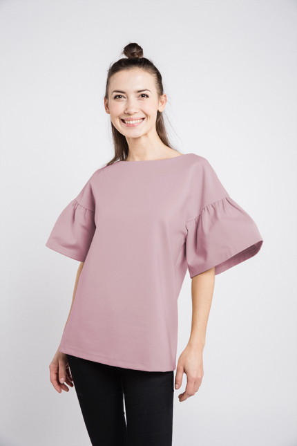 LeMuse dusty rose LOVESTORY blouse