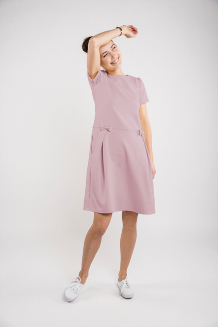 LeMuse dusty rose MADMUAZEL dress