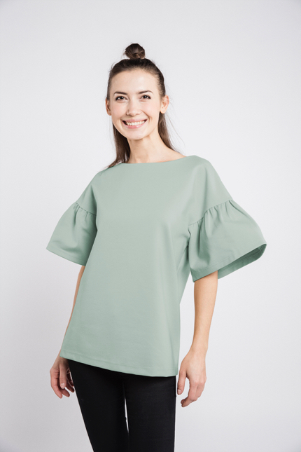 LeMuse mint LOVESTORY blouse