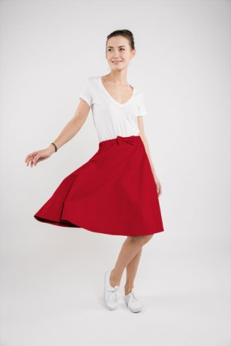 LeMuse red CINDY skirt-1