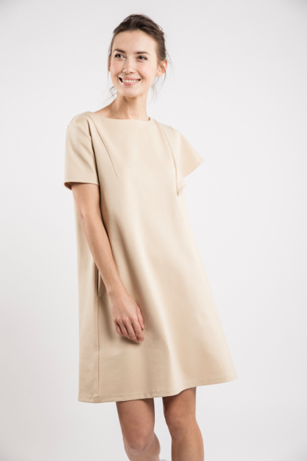LeMuse sand SUMMER WING dress-5