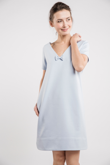LeMuse sky blue SUMMER STRIPE dress