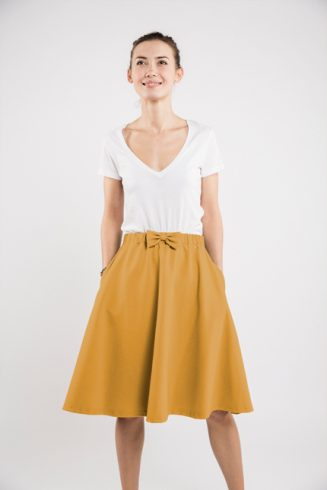 LeMuse yellow CINDY skirt