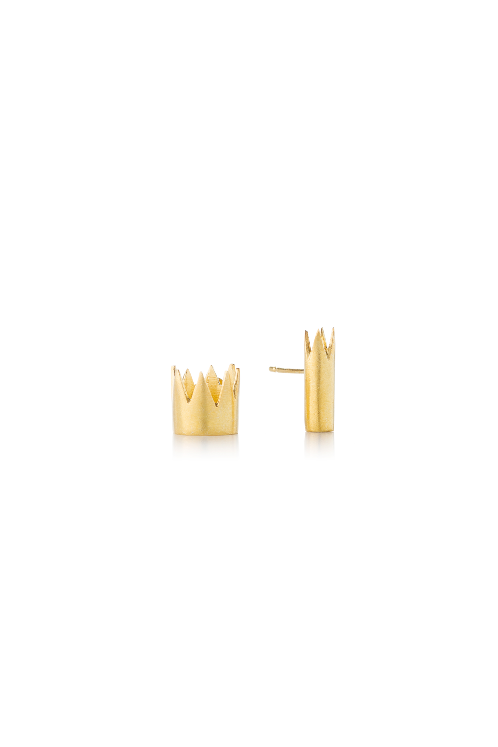 Kiss the Frog gilded CROWNS earrings