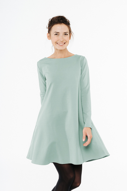 LeMuse mint CALMNESS dress with buttons