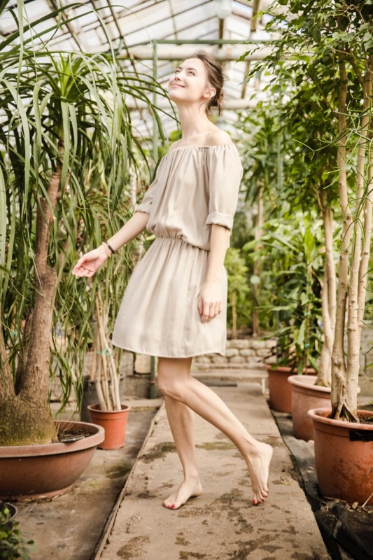 LeMuse sand BLUSH dress