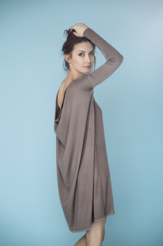 LeMuse greyish beige SEA MUSE dress