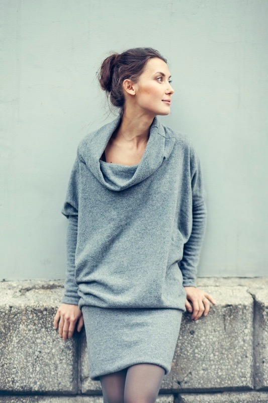 LeMuse gray LAB SPECIAL DESIGNER CUT sweater dress