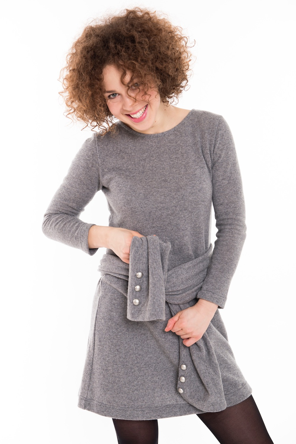 LeMuse gray EASY woolen dress