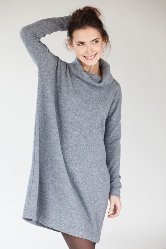 LeMuse gray OVERSIZED woolen dress