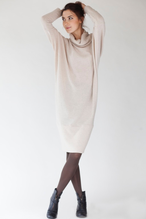 LeMuse creamy LAB SPECIAL DESIGNER CUT sweater dress