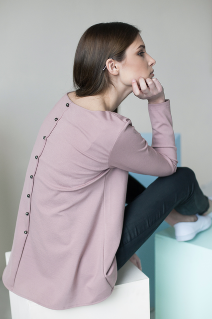 LeMuse dusty rose CALMNESS blouse